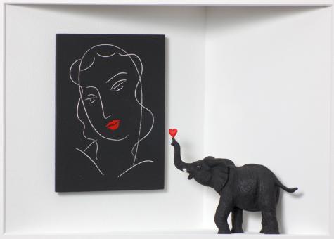 """Volker Kühn """"Homage to Matisse - Elefant"""""""