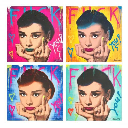 "Michel Friess ""Audrey FK YOU"" Fine Art Edition Set"
