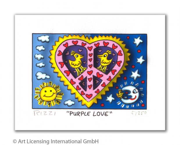 "James Rizzi ""Purple Love"""