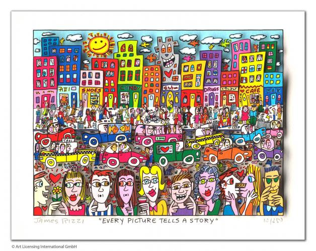 """James Rizzi """"Every Picture Tells A Story"""""""