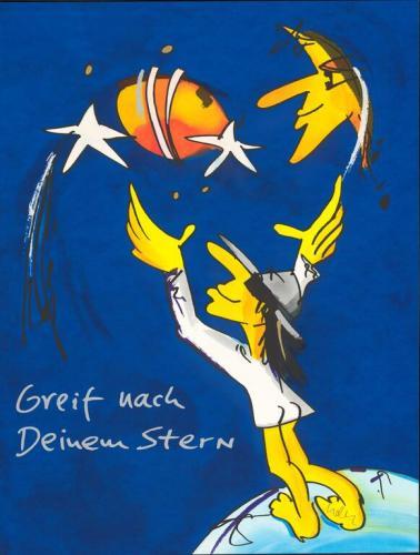 """Udo Lindenberg Grafik """"Greif nach Deinem Stern"""""""